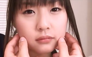 Nice Asian teenage Tsubomi in bathing suit fingering pov action