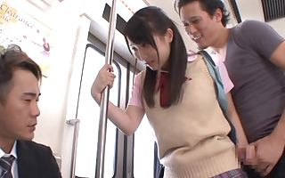 Mao Kurata naughty girl fucks in public sex