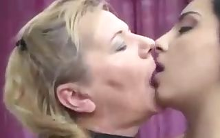 Granny mummy and college girl in threesome