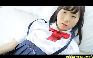 Slurps Machida Misana Jav Debut Teen Teases Taking Off Her School Subjugation And Decorating Her Pussy With Hand