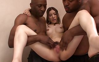 Yuria Ashina in Yuria Gets Tag-Teamed By Dark-hued Meat - JapansTiniest