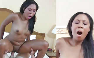Lisa Johnson making loud sounds during highly rough interracial action