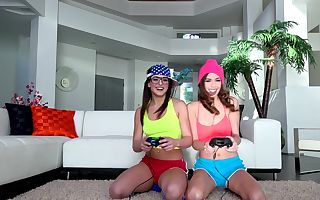 Leah Gotti & Madi Meadows in Scissoring Gamer Girls - PervsOnPatrol